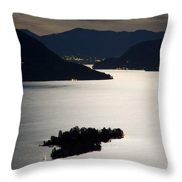 Moon Light Over Islands Throw Pillow