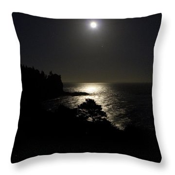 Moon Over Dor Throw Pillow by Brent L Ander