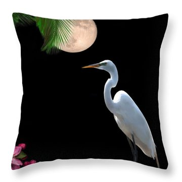 Moon Over Florida Throw Pillow by Betty LaRue