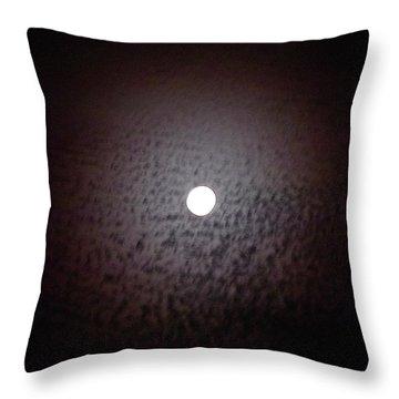 Moon Ring Throw Pillow by Jocelyn Kahawai