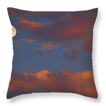 Moon Sunset Throw Pillow by James BO  Insogna