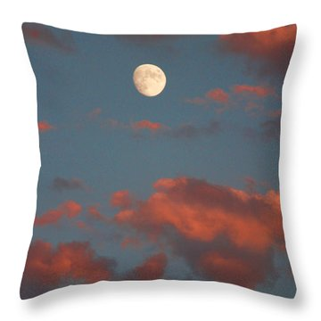 Moon Sunset Vertical Image Throw Pillow by James BO  Insogna