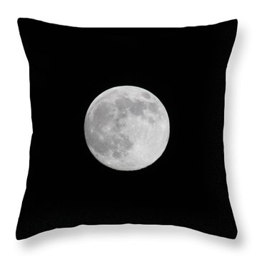 Throw Pillow featuring the photograph Moon Time by Cathie Douglas