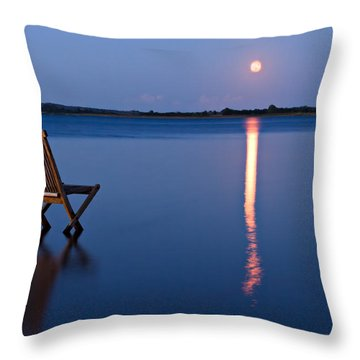 Throw Pillow featuring the photograph Moon View by Gert Lavsen