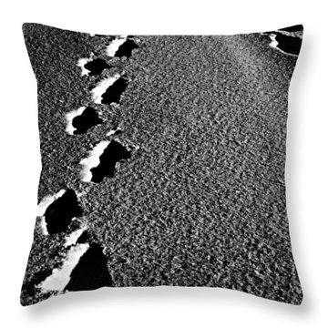 Moon Walk Throw Pillow by Jerry Cordeiro