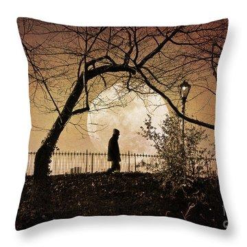 Throw Pillow featuring the photograph Moon Walker by Deborah Smith