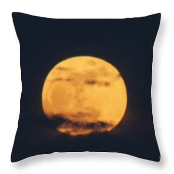 Throw Pillow featuring the photograph Moon by William Norton