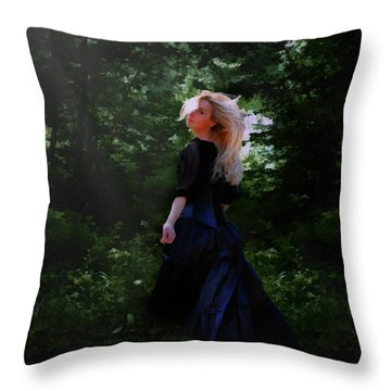 Moonlight Calls Me Throw Pillow by Nikki Marie Smith