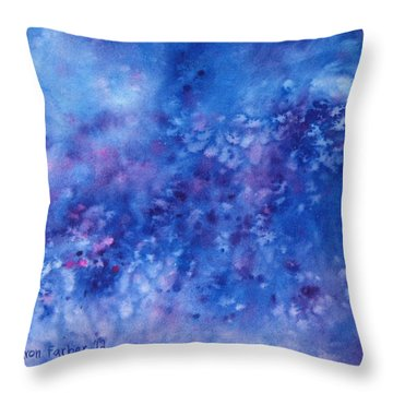 Moonlight Throw Pillow by Sharon Farber