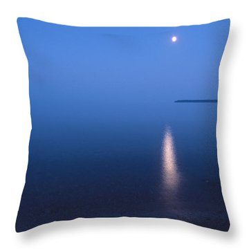 Moonrise On Lake Superior Throw Pillow