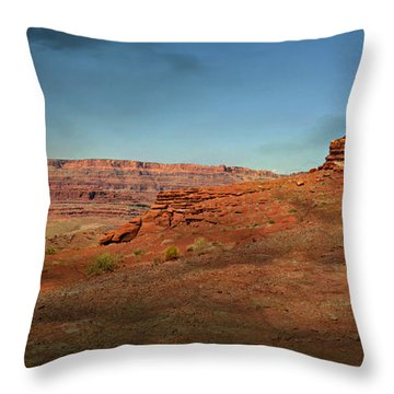 Moonrise On The Mesa Throw Pillow by Marty Koch