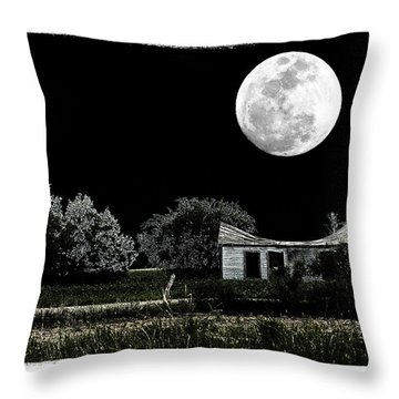 Moon's Light Throw Pillow by Travis Burgess