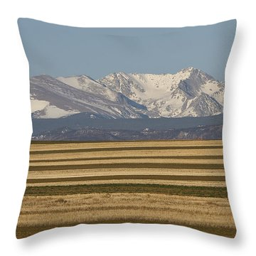 Moons Set On The Colorado Plains Throw Pillow by James BO  Insogna