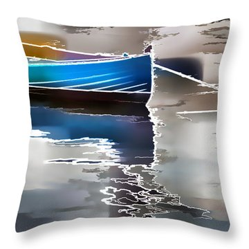 Moored Throw Pillow by Alice Gipson