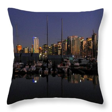 Moored For The Night Throw Pillow by Will Borden