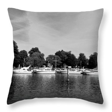Throw Pillow featuring the photograph Mooring Line by Maj Seda