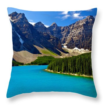 Moraine Lake Throw Pillow by James Steinberg and Photo Researchers