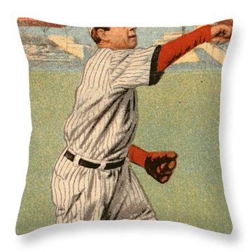 Mordecai Brown (1876-1948) Throw Pillow by Granger