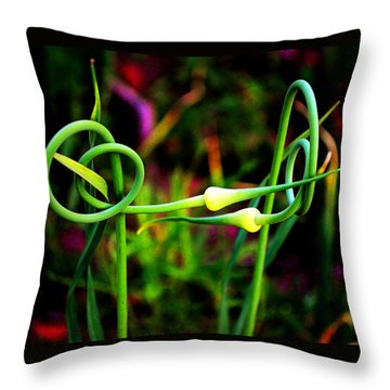 Throw Pillow featuring the photograph More Divine Garlic by Susanne Still