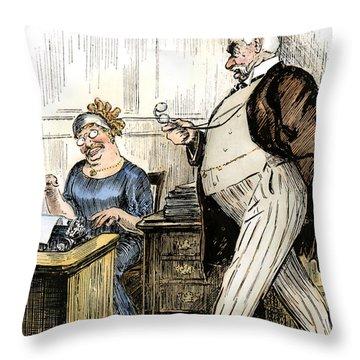 Morgan & Roosevelt, C1905 Throw Pillow by Granger