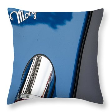 Morgan Plus 8 Taillight And Name Badge Throw Pillow by Roger Mullenhour