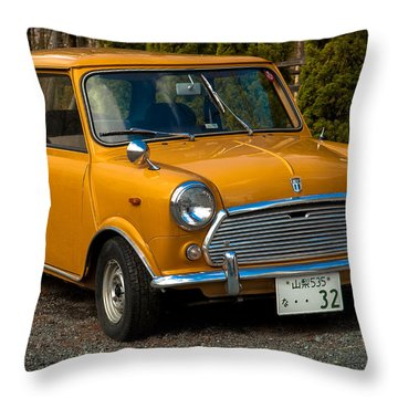 Moris Mini Cooper Throw Pillow by Sebastian Musial