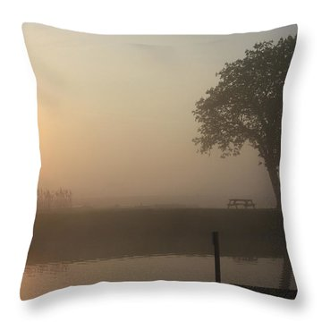 Morning Calm Throw Pillow by Linsey Williams