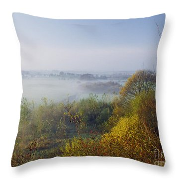 Morning Dust Throw Pillow by Heiko Koehrer-Wagner