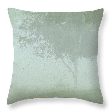 Morning Fog Throw Pillow by Judi Bagwell