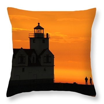 Morning Friends Throw Pillow