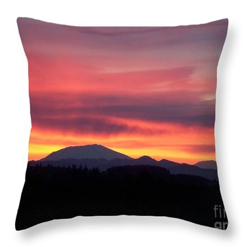 Throw Pillow featuring the photograph Morning Glow by Chalet Roome-Rigdon