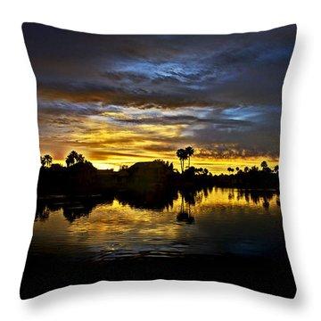 Morning Glow  Throw Pillow by Saija  Lehtonen