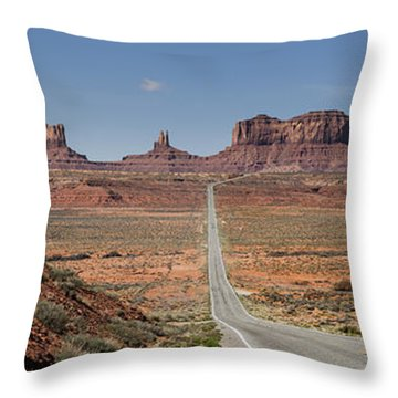 Morning In Monument Valley Throw Pillow by Sandra Bronstein