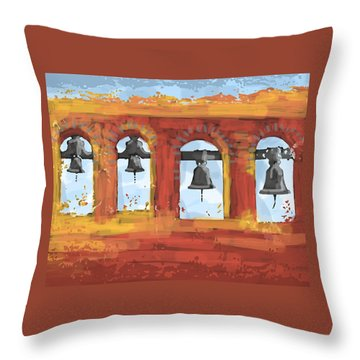 Morning Mission Bells Throw Pillow
