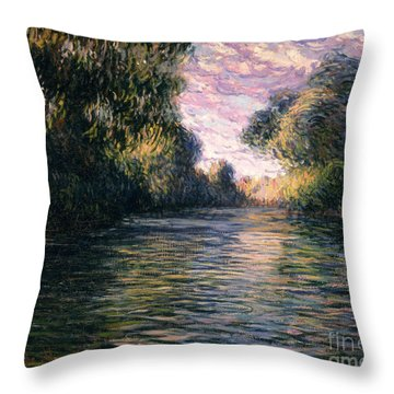 Morning On The Seine Throw Pillow by Claude Monet
