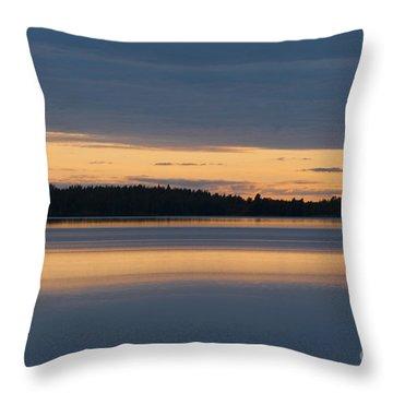 Morning Sun Rising At Arctic Sea Throw Pillow by Heiko Koehrer-Wagner