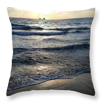Throw Pillow featuring the photograph Morning Surf by Clara Sue Beym