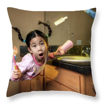 Morning Surprise Throw Pillow by William Lee