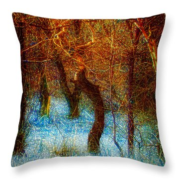 Morning Worship Throw Pillow by Mimulux patricia no No