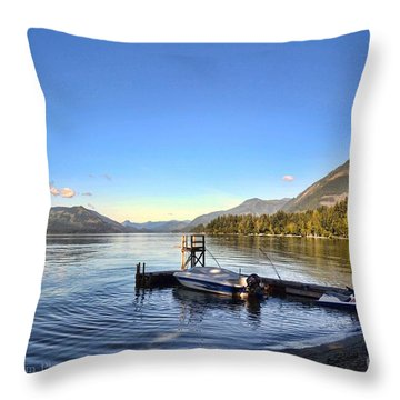 Mornings In British Columbia Throw Pillow