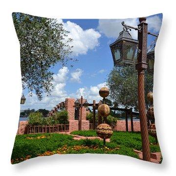 Moroccan Garden I Throw Pillow