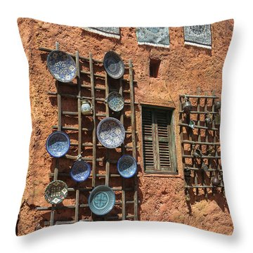 Moroccan Marketplace Throw Pillow