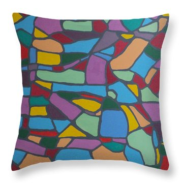 Mosaic Journey Throw Pillow