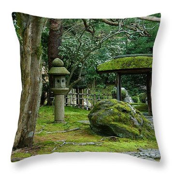 Moss Covered Park Throw Pillow