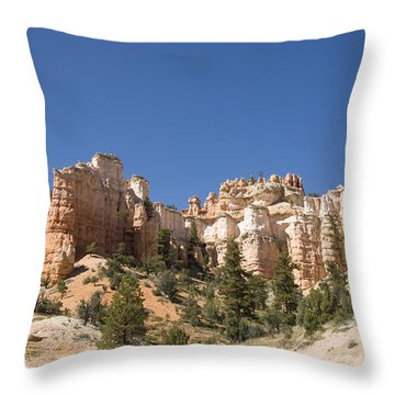 Mossy Cave Trail Throw Pillow by Gloria & Richard Maschmeyer