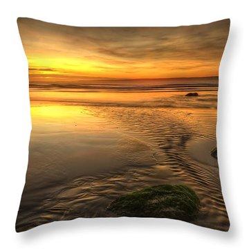 Mossy Rocks Throw Pillow by Svetlana Sewell