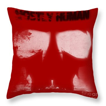Mostly Human 2 Throw Pillow by Pixel  Chimp