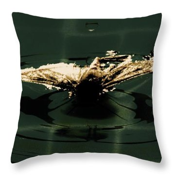 Throw Pillow featuring the photograph Moth Ripples by Jessica Shelton