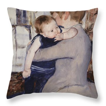 Mother And Child Throw Pillow by Mary Stephenson