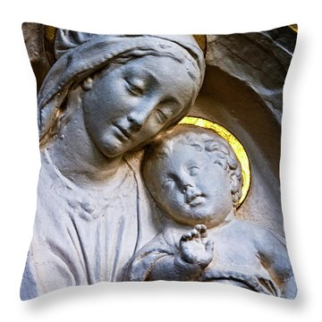 Mother And The Son Throw Pillow by Christopher Holmes